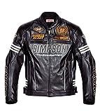 シンプソン(SIMPSON) ウィンタージャケット BLACK/SILVER LL SJ-4133ANV