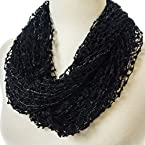 Black Shimmer Infinity Scarf