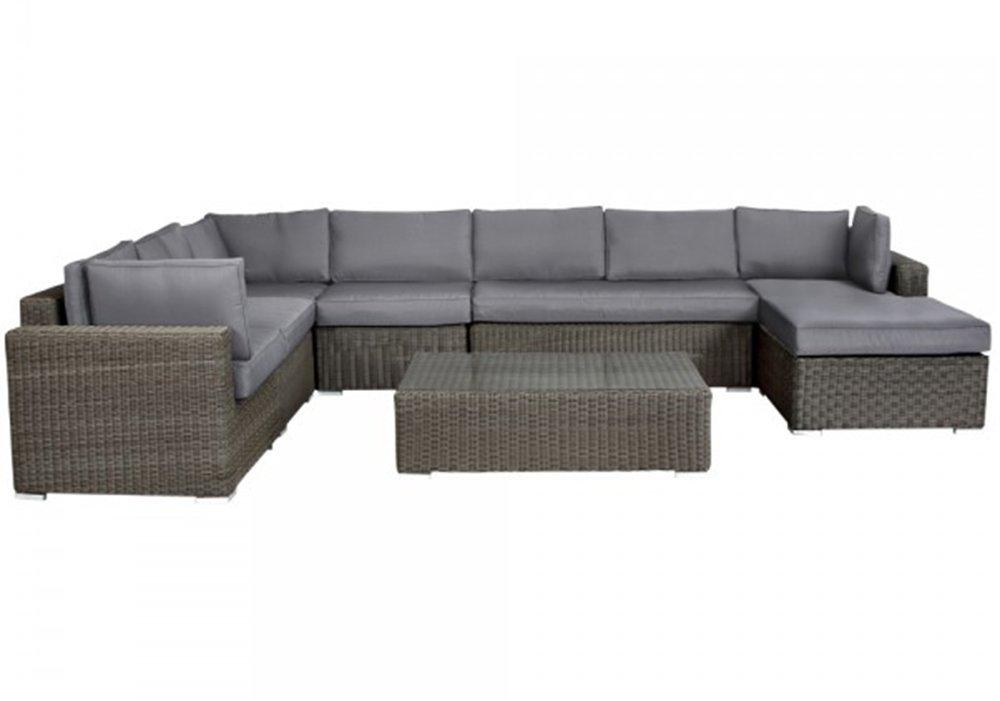 Rattan Gartenmöbel Lounge Malang | 10cm Polster (Grau) bestellen