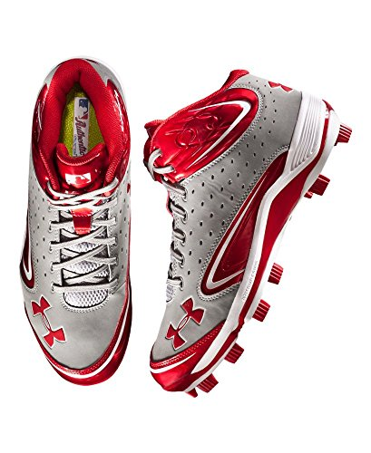 pictures of Under Armour Men's UA Yard III Mid-Cut Molded Baseball Cleats 14 Gray
