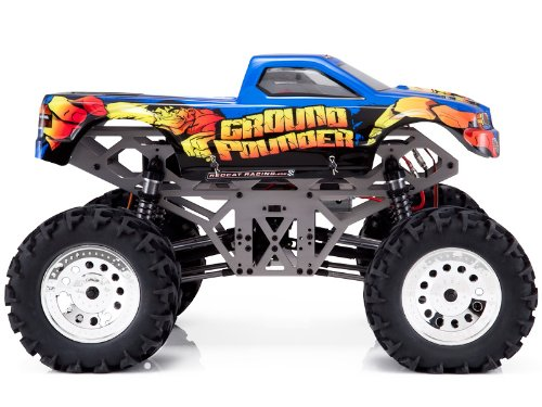 Ground Pounder Licensed Body ~ Aluminum ~ 1/10 Scale Electric Rc ~ Solid Axle ~ Monster Truck ~ By Redcat Racing: