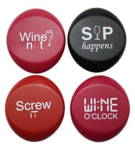 Cansational Wine Stoppers, 4 count Leak Free Wine Sealers, Reseal Your Wine, Reusable Silicone Bottle Sealer, Bottle Cap (Reseal Soda Bottles compare prices)