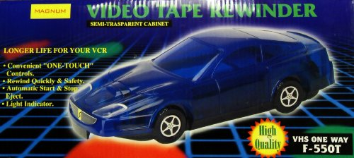 Great Deal! MAGNUM F550T VHS Video Tape Rewinder (Color Red)
