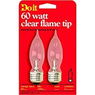 GE Private Label 17799 Do it Decorative Light Bulb-60W CLR FLAME TIP BULB