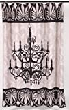 """""""Lumiere"""" Fabric Shower Curtain"""