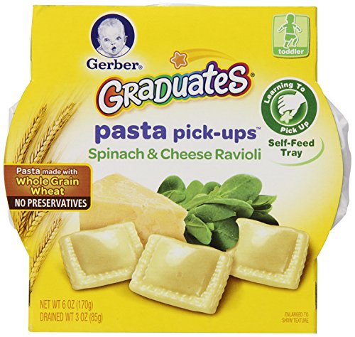 Gerber Graduates Pasta Pick-Ups Ravioli, Spinach and Cheese, 6 oz. Trays, 8 Count (Gerber Pasta Pickups compare prices)
