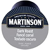 Martinson Coffee Capsules, Dark Roast Package compatible with Keurig K-Cup Brewers, 48 Count