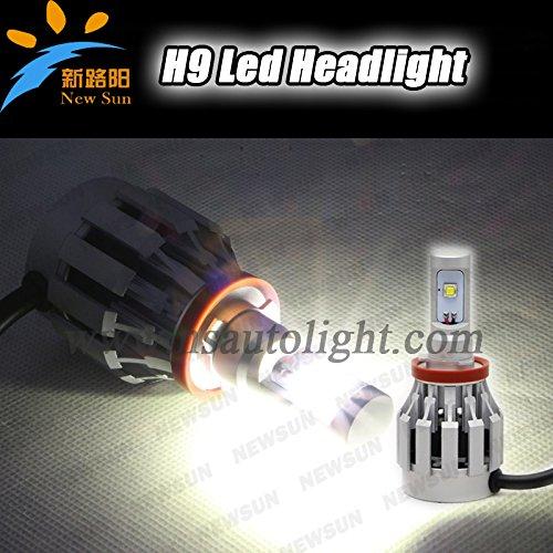 Newsun Cree-Xml2 Led Chip 12V-24V H9 Led Headlight Bulbs Ip 68 6500K 20W Cree Led Headlights H9 Led Bulb 2000Lm Super Bright Auto Lights