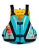 MTI Adventurewear Women's Moxie PFD Life Jacket with Adjust-A-Bust System, Turquoise/Print, Large/X-Large