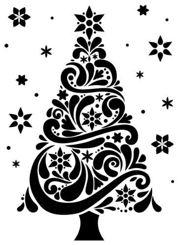 Darice 1218-118 Embossing Folder, 4.25 by 5.75-Inch, Geo Christmas Tree Design