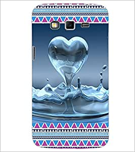 PrintDhaba Water Heart D-4094 Back Case Cover for SAMSUNG GALAXY GRAND 2 (Multi-Coloured)