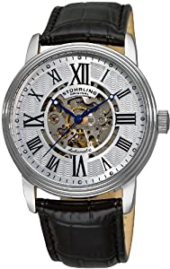 Stuhrling Original Men's 1077.33152 Classic Delphi Venezia Automatic Skeleton Black/Silver-Tone Watch