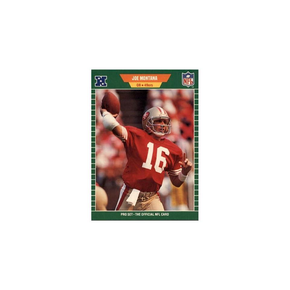 1989 NFL Pro Set   49ers   Joe Montana   Card 381