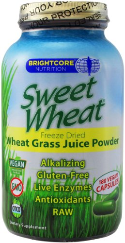 Brightcore Nutrition Sweet Wheat Capsules, 180 Count