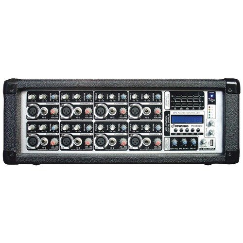 8-Channel 800-Watt Powered Mixer  MP3 Input -