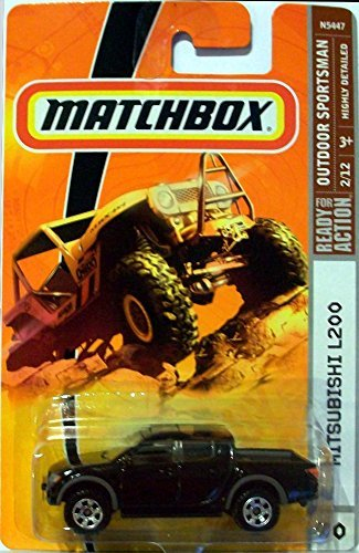 Matchbox Outdoor Sportsman Series Mitsubishi L200 Black #90 Detailed Diecast Scale 1/64 Collector (1 64 Mitsubishi L200 compare prices)