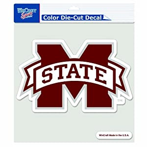 Buy NCAA Mississippi State Bulldogs 8-by-8 Inch Diecut Colored Decal by WinCraft