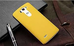 CZap Tough Case Hard Matte Rubberized Back Cover for LG G3 Beat - Yellow