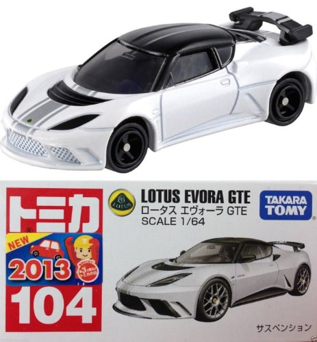 TOMY TOMICA No.104 Lotus Evolution over La GTE (White) - 1