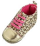 EOZY Zapatos Infantil Para Ni�o Beb� Dorado Suela Leopardo Del Pesebre Soft Caminar Edad 3-6 Meses