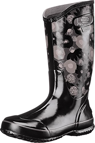 Bogs Women's Watercolor Rain Boot, Black/Multi, 8 M US (Bogs Rain Boots Women compare prices)