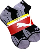 Puma Black-Grey Socks for Men - 6 Pairs - Cotton Cushioned (Extended)