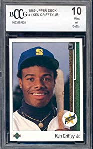 1989 upper deck #1 KEN GRIFFEY JR rookie card BGS BCCG 10 by Upper Deck