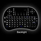 LIIR 2.4GHz Wireless Mini LED Backlit Keyboard with Touchpad Mouse for Raspberry Pi,Android and Google Smart TV,XBMC,HTPC(BACKLIGHT)