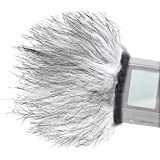"""Movo WS9 Furry Outdoor Microphone Windscreen Muff for Portable Digital Recorders up to 3"""" X 1.5"""" (W x D) - Fits the Zoom H4n, H5, H6, Tascam DR-40, DR-05, DR-07 & Similar Recorders"""