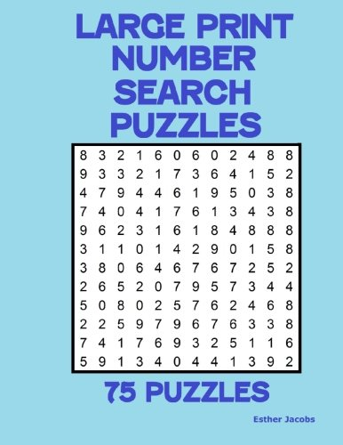 Large Print Number Search Puzzles: 75 puzzles