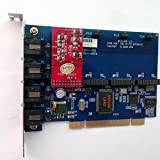 4 Port Analog PCI Asterisk Card with 1 FXO 0 FXS Module