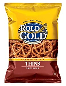 Rold Gold Classic Thins Pretzels, 2.625 Oz Bags (Pack of 24)