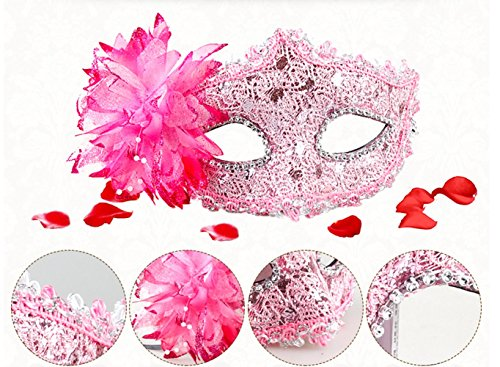 Masquerade Masks Mardi Gras Costume with Flowers Halloween Costume Cosplay (Ideas For Masquerade Masks)