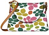 Snoogg seamless pattern with leaf Womens Carry Around Sling Bags