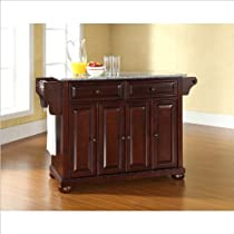 Hot Sale Crosley Furniture Alexandria Solid Granite Top Kitchen Island in Vintage Mahogany Finish
