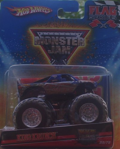 2010 Hot Wheels Monster Jam #55/75 Mud Truck KING KRUNCH Flag Series 1:64 Scale Collectible Truck