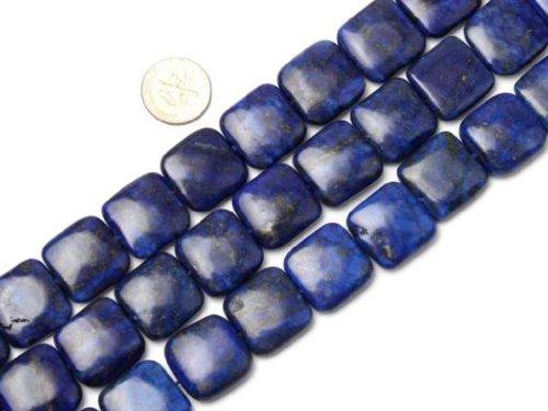 Sweet & Happy Girl'S Store 18mm Square Gemstone Lapis Lazuli Beads Strand 15
