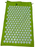 The Hopi Direct Lime Green Shakti Yantra Mat (Bed of Nails Mat) 100% Cotton, Most Acupressure Points ...