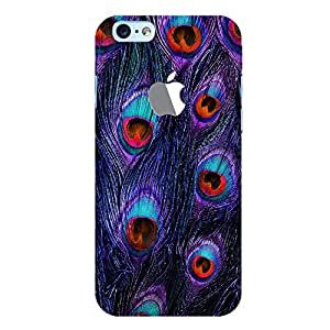 ColourCrust New Apple iPhone 6 with Logo Mobile Phone Back Cover With Peacock Feather Pattern Style - Durable Matte Finish Hard Plastic Slim Case