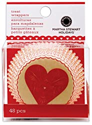 Martha Stewart Cupcake Wraps 48/Pkg-Heart & Love; 3 Items/Order