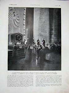 Dott. 1934 Louis Martin Pasteur Parigi l'Arco di Trionfo