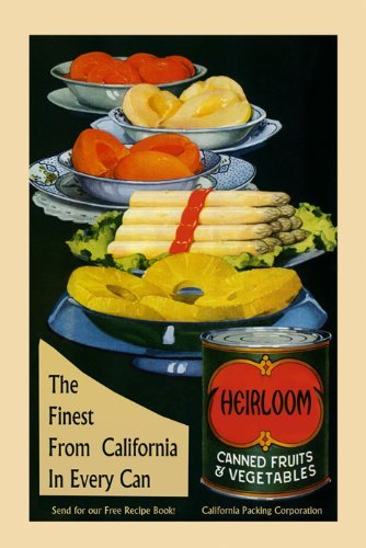 """Canvas Food Canned Fruits Vegetables Crate Label California Asparagus Pineapple American Advertising 20"""" X 30"""" Image Size . Vintage Poster On Canvas. Art Reproduction . We Have Other Sizes Available! front-437683"""