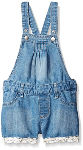 The Children's Place Crochet Trim Shortall, Fade Wash, 4T