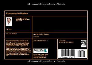 Alemannische Masken (Tischaufsteller DIN A5 quer): Gefürchtet und geliebt (Tischaufsteller, 14 Seiten) (CALVENDO Kunst)
