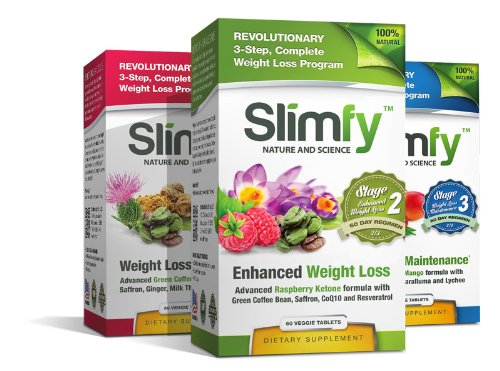 Slimfy Weight Loss Supplements - Milk Thistle, Saffron Extract, Resveratrol, Coq10, Maqui Berry, Raspberry Ketone, Fat Burner, Liver Cleansing, African Mango Extract, Coq10, Green Tea Extract, Lychee Extract, Caralluma Fimbriata (6)