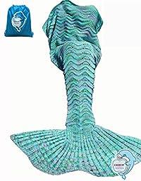 LAGHCAT Mermaid Tail Blanket Knit Crochet and Mermaid Blanket for Adult,Sleeping Blanket (71\
