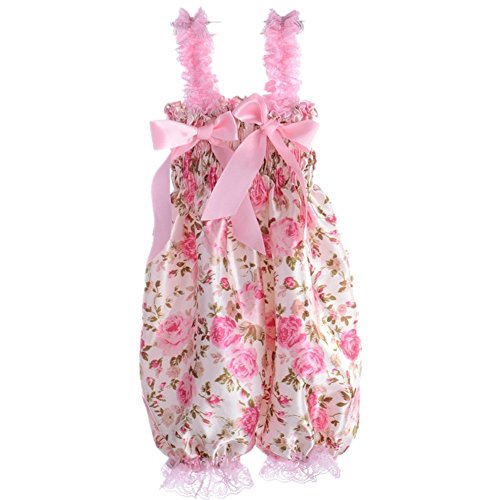 Baby Girl Petti Ruffle Rompers Dress Children One-Piece Lace Pants