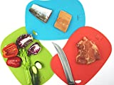 Antimicrobial Cutting Board (Set of 3) Antibacterial Self-Disinfects In Microwave In 60 Seconds Flexible & Slip Resistant Dishwasher Safe Eco-Friendly & Non Toxic From EnviroChef