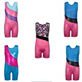 3-10 Ans Enfant Fille Gymnastics Leotards Tenue de Sport sans Manches