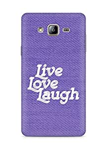 Amez Live Love Laugh Back Cover For Samsung Galaxy ON5